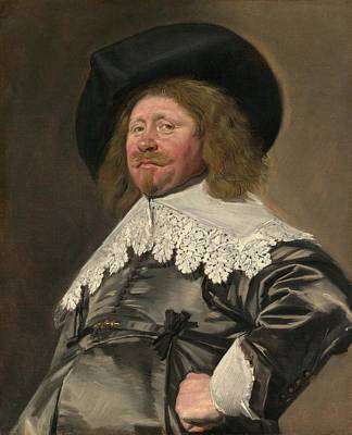 1636 Painting - Portrait Of A Man by Frans Hals