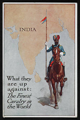 Lancer Photograph - Postcard Circa 1905 - 1918 by British Library