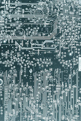 Microchip Photograph - Printed Circuit Board by Wladimir Bulgar