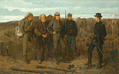 Prisoners From The Front Print by Winslow Homer
