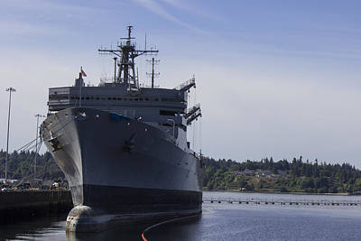 Puget Sound Naval Shipyard  Art Print by Cathy Anderson