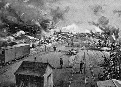 Midwest Drawing - Pullman Strike, 1894 by Granger