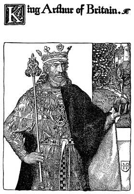 Camelot Drawing - Pyle King Arthur by Granger
