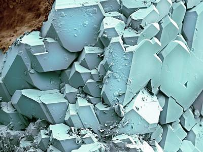 Crystalline Photograph - Quartz Crystals by Science Photo Library