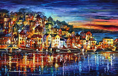 Afremov Painting - Quiet Town by Leonid Afremov