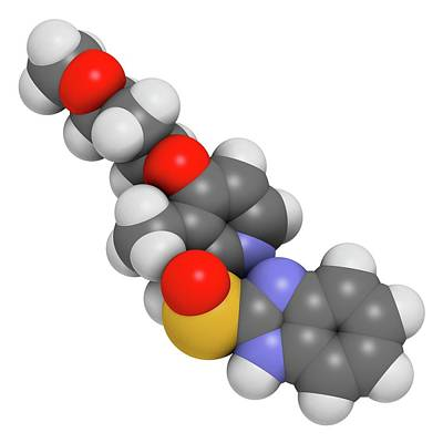 Rabeprazole Gastric Ulcer Drug Molecule Art Print