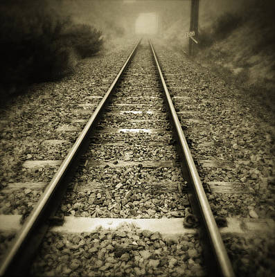 Railroads Photograph - Railway Tracks by Les Cunliffe