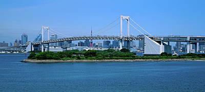 Honshu Photograph - Rainbow Bridge Over Tokyo Bay, Tokyo by Panoramic Images