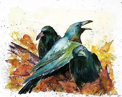 3 Ravens Art Print
