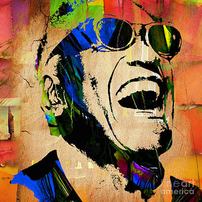 Piano Mixed Media - Ray Charles Collection by Marvin Blaine