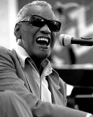 Keyboard Photograph - Ray Charles by Retro Images Archive