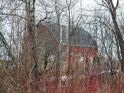 Photograph - Red Barn by Gene Cyr