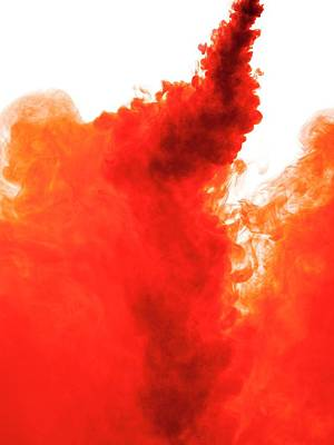 Red Abstract Photograph - Red Liquid by Science Photo Library