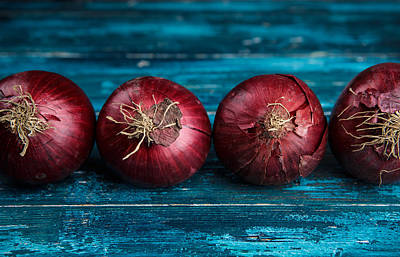 Red Onions Art Print by Nailia Schwarz