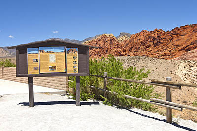 Semi Dry Photograph - Red Rock Canyon Nevada. by Gino Rigucci