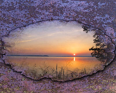Digital Art - Reelfoot Lake Sunrise by J Larry Walker