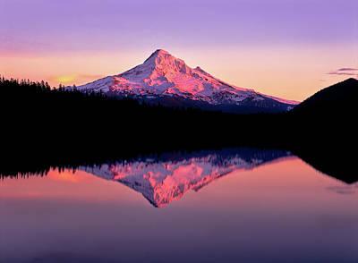 Reflection Of Mountain Range In A Lake Art Print