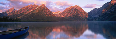 Reflection Of Mountains In A Lake Art Print