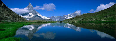 Switzerland Photograph - Reflection Of Mountains In Water by Panoramic Images