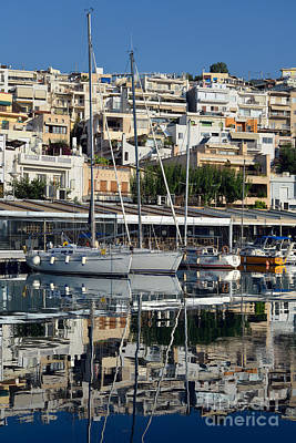 Yacht Photograph - Reflections In Mikrolimano Port by George Atsametakis