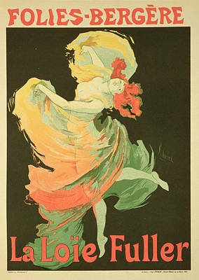 Dancing Drawing - Reproduction Of A Poster Advertising by Jules Cheret