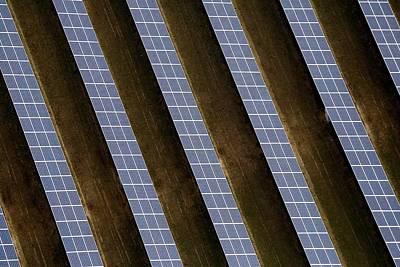 Reydon Solar Farm Art Print by Victor De Schwanberg