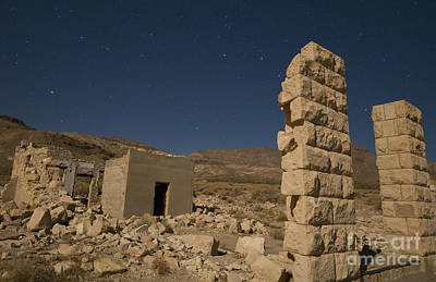 Photograph - Rhyolite At Night by Dan Suzio