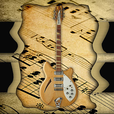 Rickenbacker Guitar Collection Art Print by Marvin Blaine