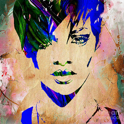 Rihanna Collection Art Print by Marvin Blaine