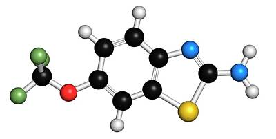 Lateral Photograph - Riluzole Als Drug Molecule by Molekuul