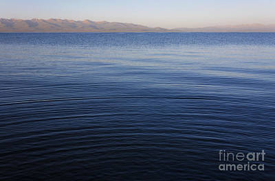 Kyrgyzstan Photograph - Ripples On The Surface Of Lake Song Kul In Kyrgyzstan by Robert Preston
