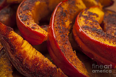 Food Photograph - Roasted Pumpkin by Elena Elisseeva