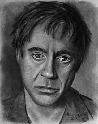 Robert Downey Jr Drawing Drawing - Robert Downey Jr by Alan Conder
