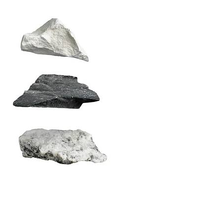Trio Photograph - Rock Types by Science Photo Library