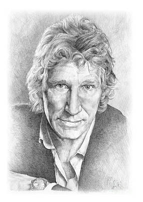 Rock Drawing - Roger Waters Of Pink Floyd by Liz Molnar