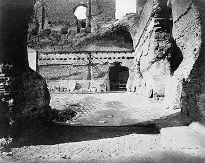 Rome Baths Of Caracalla Art Print by Granger