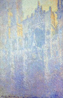 Fading Painting - Rouen Cathedral by Claude Monet