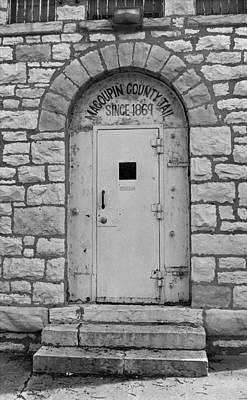 Police Art Photograph - Route 66 - Macoupin County Jail by Frank Romeo