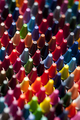 Photograph - Rows Of Multicolored Crayons  by Jim Corwin