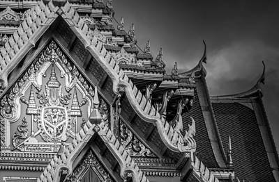 Er Photograph - Royal Coat Of Arms On The Grand Palace In Bangkok Thailand by Colin Utz