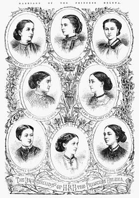 Bridesmaid Painting - Royal Wedding, 1866 by Granger