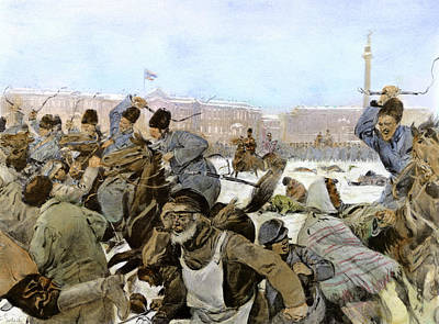 Beating Drawing - Russia Revolution Of 1905 by Granger