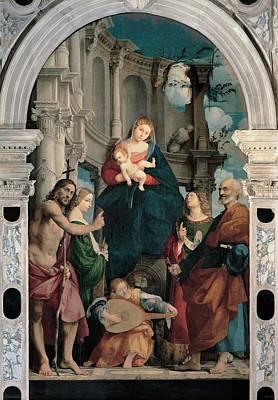 Sacchis Giovanni Antonio De Known As Il Print by Everett