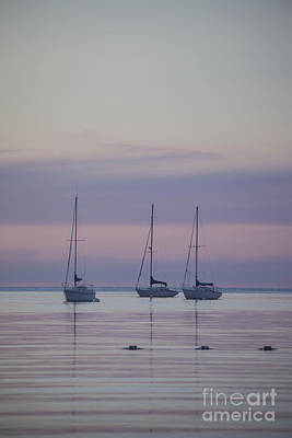3 Sailboats Art Print