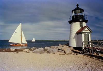Sailing Across Brant Point Nantucket Art Print