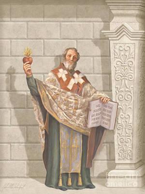 Devotional Painting - Saint Augustine by John Alan  Warford