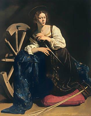 Christian Artwork Painting - Saint Catherine Of Alexandria by Mountain Dreams