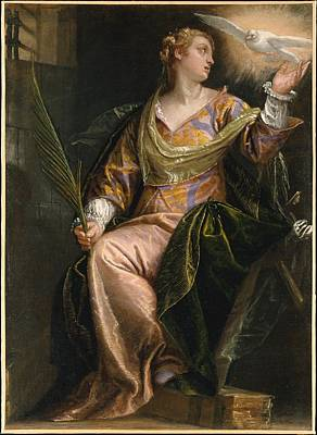 Paolo Caliari Veronese Painting - Saint Catherine Of Alexandria In Prison by Paolo Veronese