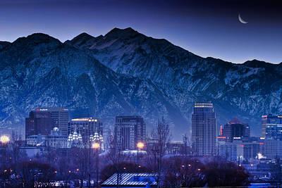Photograph - Salt Lake City Utah Skyline by Utah Images