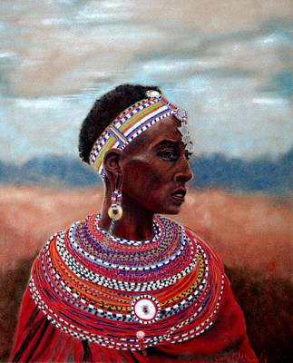 Samburu Woman Art Print